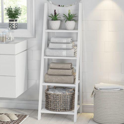 Found It At Wayfair Co Uk Aralia 44 X 134cm Bathroom Shelf In 2020 Easy Bathroom Organization Bathroom Organization Diy Simple Bathroom