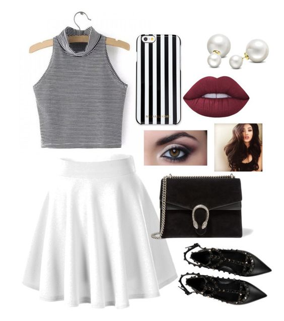 """""""#15"""" by princesscarlyne on Polyvore featuring Valentino, Gucci, MICHAEL Michael Kors, Allurez and Lime Crime"""