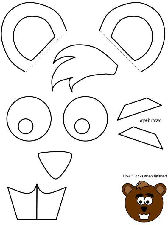 Letter b, Templates and Beavers on Pinterest