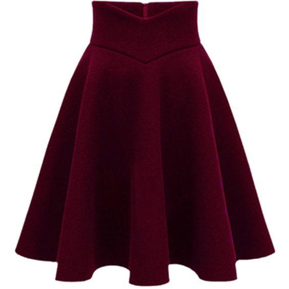 High Waisted Red Skirt 40