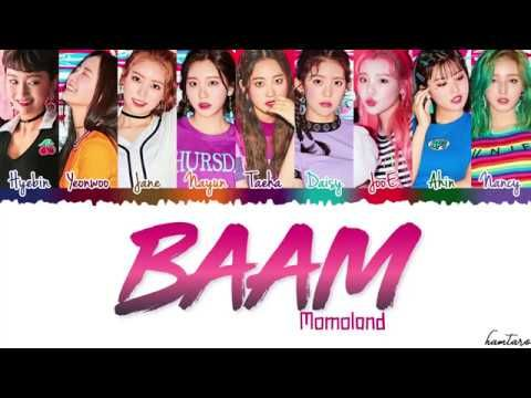 Momoland Baam Lyrics Color Coded Han Rom Eng Youtube Red