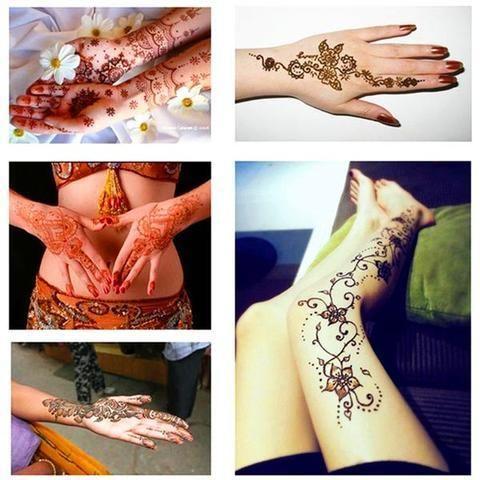 Henna Body Art Tattoo Kit Kinnmo Tattoo Kits Henna Henna Tattoo Temporary