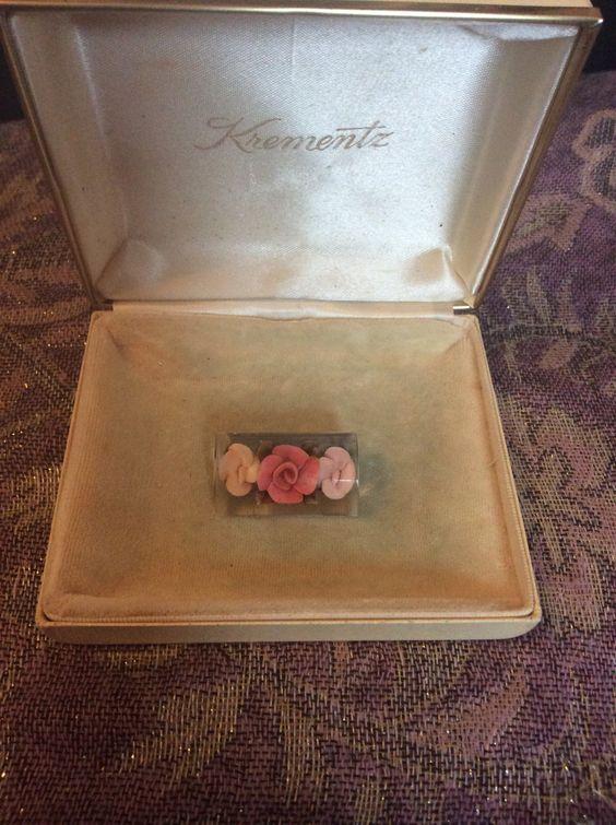 Vintage lucite rose brooch by MelsBelles1972 on Etsy