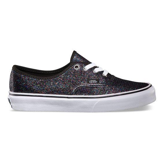 vans glitter authentic shoes