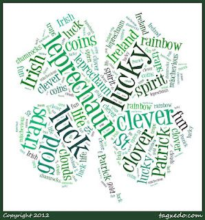 St. Patrick's Day word clouds!