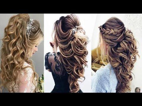تسربحات شعر مذهلة للاعراس والحفلات والمناسبات تسريحات بخكوات بسيطة ستبهركي النتيجة Youtube Curly Wedding Hair Wedding Hairstyles Braided Hairstyles