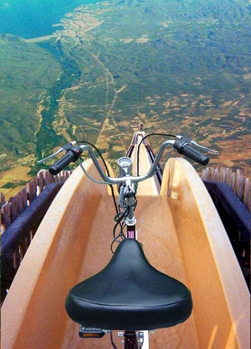 Norwegian Thrills - Just imagine the adrenaline rush from biking down this mega ramp.