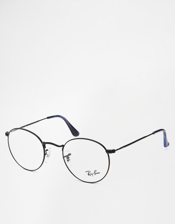 clear ray ban eyeglass frames  image 1 of ray ban round glasses 0rx6242