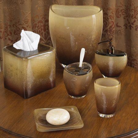 Croscill Aquarius Bronze Bath Collection   Unique  contemporary design    homedecor  bathroom. Alys Oil rubbed Bronze Bath Accessory with Shower Curtain 4 piece