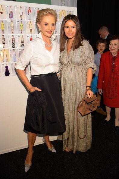 Miroslava Duma Photos: Carolina Herrera - Backstage - Mercedes-Benz Fashion Week Spring 2015