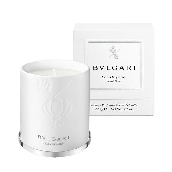 The 12 Best Fall Candles for Every Personality - For the Fragrance Fiend: Bulgari Eau Parfumee Au The Blanc from #InStyle