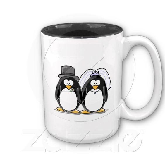 Bride and Groom Penguins Coffee Mugs from Zazzle.com