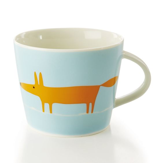 Scion - Mug Mr Fox, orange/gris vert | ACHICA