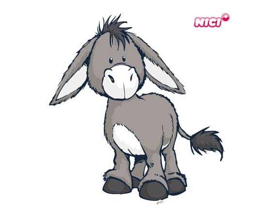 wandtattoo nici donkey stehend  donkeys and funny