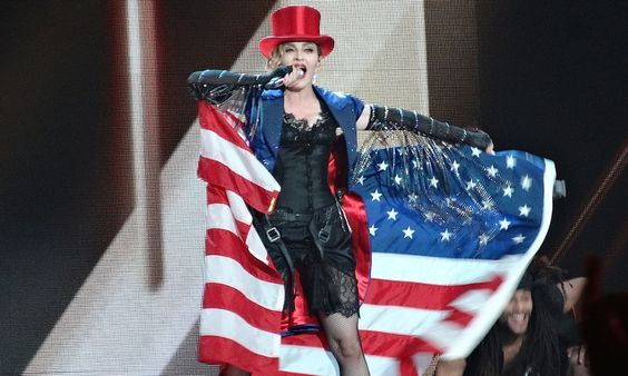In the first of two Rebel Heart tour shows in the historic venue, the pop queen brings out Amy Schumer, Game of Thrones, transgender nuns, a ukulele … and her greatest hits