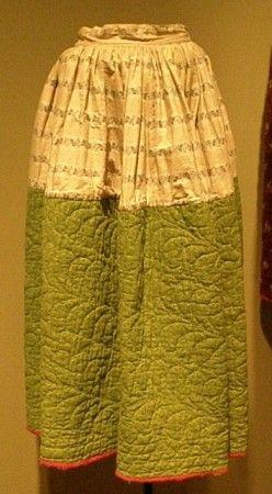 """""""Petticoat.  Calico prints.  c. 1880."""":"""