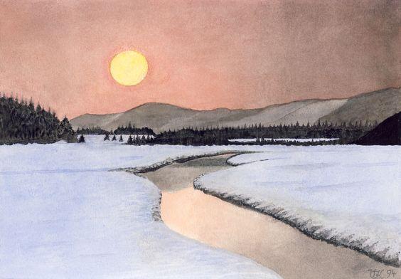 Schneelandschaft, U. Kretschmer