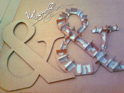 Como hacer letras en papel maché | Aprender manualidades es facilisimo.com