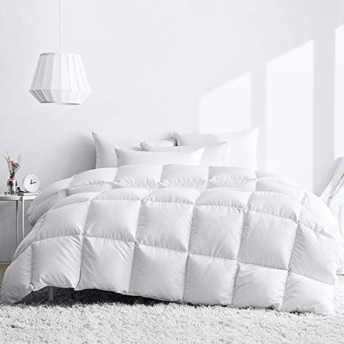 Royoliving Premium White Goose Down Comforter Queen Full Size 100 Egyptian Cotton Cover Down Proof Winter Duvet Inse Down Comforter Duvet Bedding Comforters