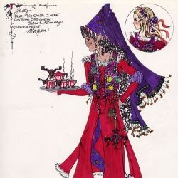 costume design sketch for judy in the santa clause elf