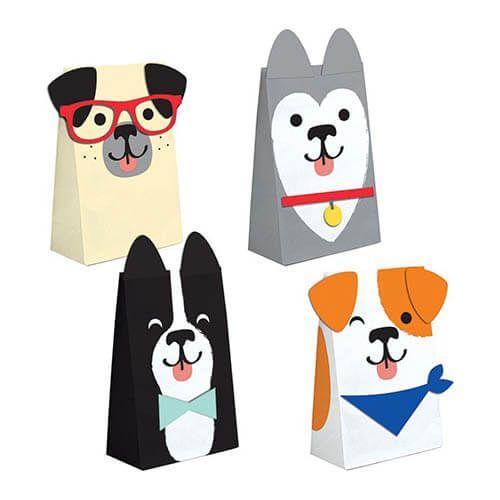 Bustine Cane Bau Bau Per Regali Fine Festa 8 Pezzi Dog Party Dog Party Favors Puppy Party Supplies