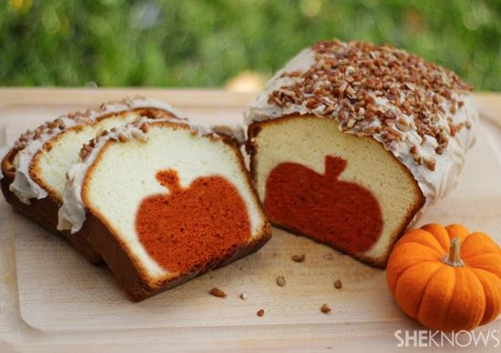 Halloween or Fall or Thanksgiving pumpkin pound cake recipe