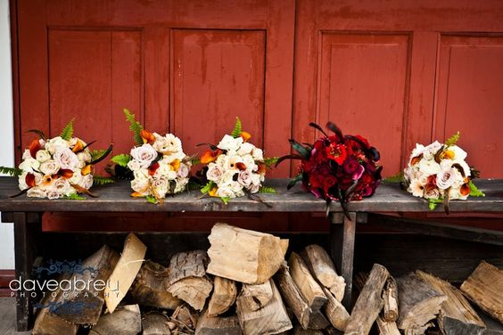 Bridal Bouquet and four Bridesmaid's bouquets.