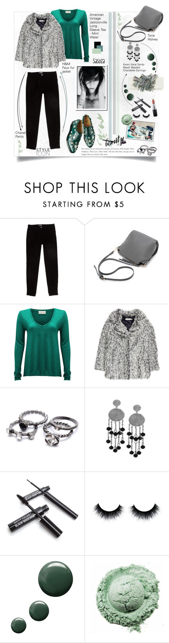"""""""outfit of the day by Sasoza"""" by sasooza ❤ liked on Polyvore featuring Chanel, American Vintage, H&M, Karen Kane, Topshop and MAC Cosmetics"""