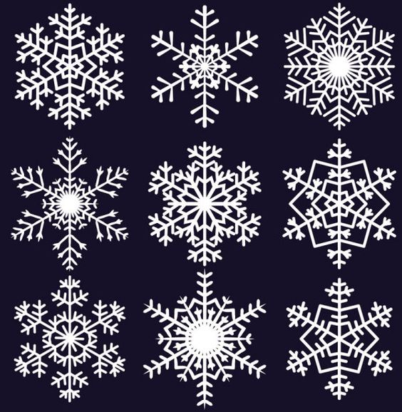 Free EPS file Different Snowflake pattern mix vector graphics 04 ...: