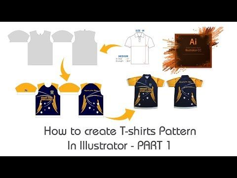 Download How To Create T Shirts Pattern In Illustrator Part 1 T Shirt Sublimation Printing Pattern Youtube Tshirt Pattern Tshirt Print Sublimation Printing