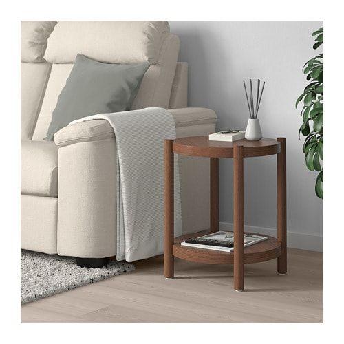 Listerby Stolik Brazowy 50 Cm Kupuj Online Lub W Sklepie Ikea White Side Tables Ikea Side Table Side Table