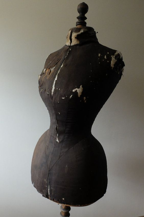 antique french stockman wasp waist mannequin or dress form from the 1800 39 s brocante. Black Bedroom Furniture Sets. Home Design Ideas