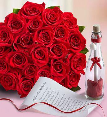 Un mesaje con un hermoso ramo de rosas rojas, es un regalo excelente para el día de aniversario.