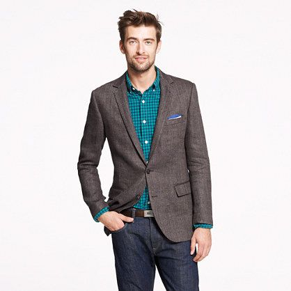 herringbone sport coat dark denim bold fitted shirt - business