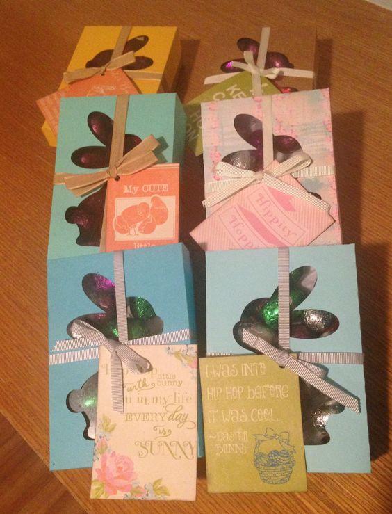 easter gift box / caixa de ovinhos de Páscoa / silhouette creation