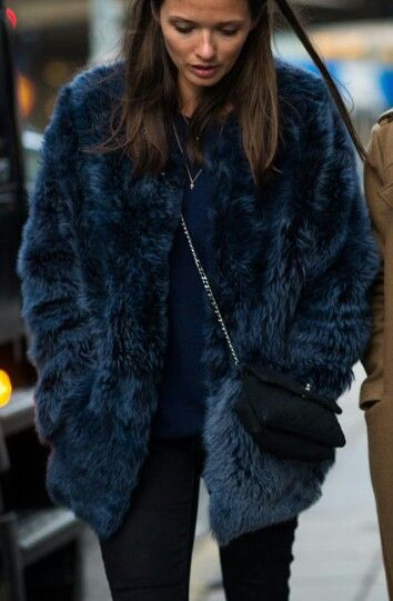 fuzzy blue coat. | Fashion | Pinterest | Faux fur coats Style and