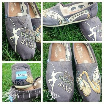 Dave Matthews Band Custom TOMS by HopeTodayStudio on Etsy I need these!