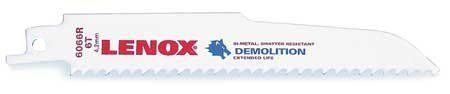 Lenox Tools 203706066R5 Demolition Reciprocating Saw Blade-6066R5 6 Teeth Per Inch, 6-Inch, 5-Pack -- For more information, visit image link.
