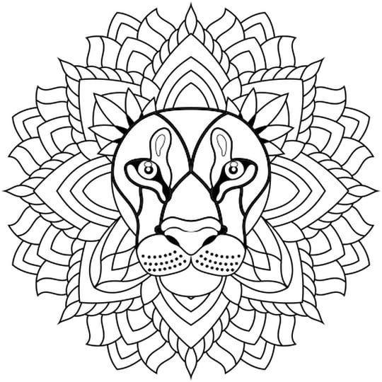 Coloriage Mandala Lion En Ligne Gratuit A Imprimer Coloriage Halloween A Imprimer Coloriage Halloween A Impr Lion Coloriage Coloriage Mandala Coloriage Animaux