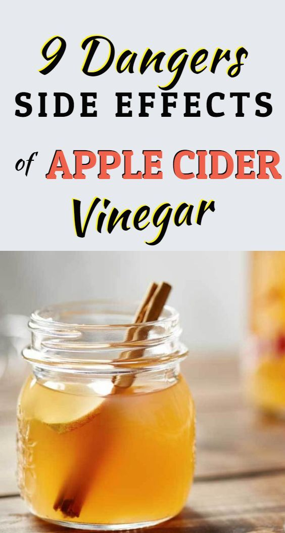 Side Effects Of Consuming Too Much Apple Cider Vinegar Natural