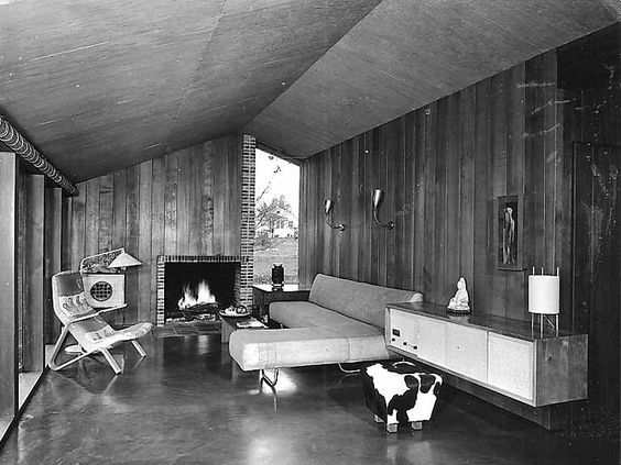 paul hayden kirk | Kirk residence II interior showing living room, Finn Hill, n.d.: