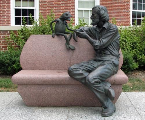 Jim Hensen and Kermit statue at the University of Maryland by Jay Hall Carpenter: