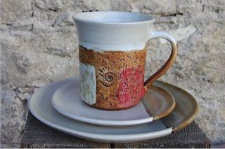 #Kaffeegedeck, #Tasse, Unterteller und #Kuchenteller