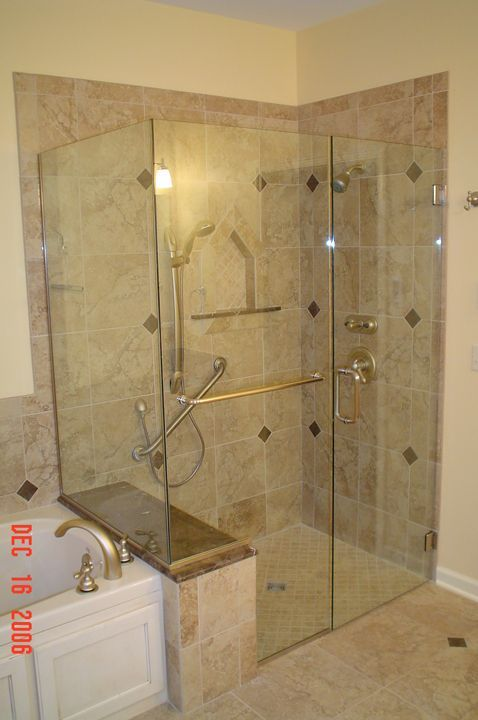 walk in shower enclosures with seat - Google Search