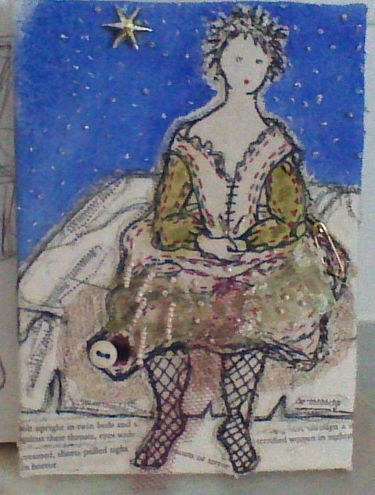 Fantine - stitched piece inspired by Les Miserable by Shirlee McGuire