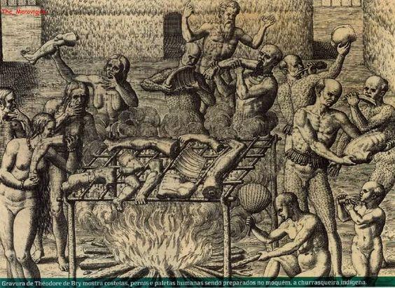 Ubatubense: TUPÍNAMBÁS E SEUS COSTUMES....Como eram os rituais de canibalismo dos índios brasileiros?