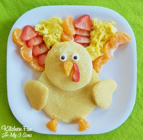 Thanksgiving Turkey Pancakes | 19 Delicious Thanksgiving Treats That Will Blow Your Kids' Minds