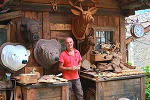trophée animaux 3D en bois (alpes) - Pep's et Vivi Bois d'Antan