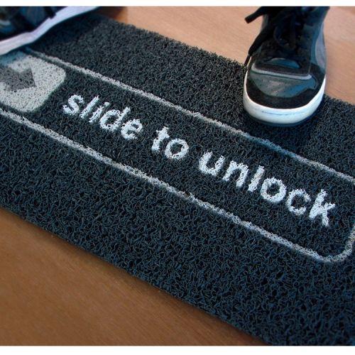 Slide-To-Unlock Doormat