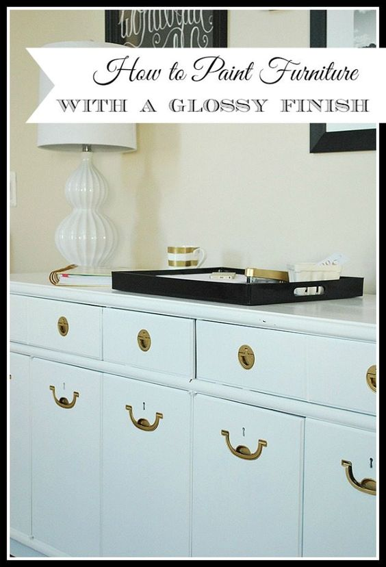 How To Paint Furniture To Get A High Gloss Professional